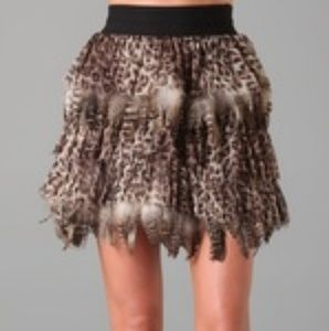 Alice Olivia Feather and chiffon Skirt